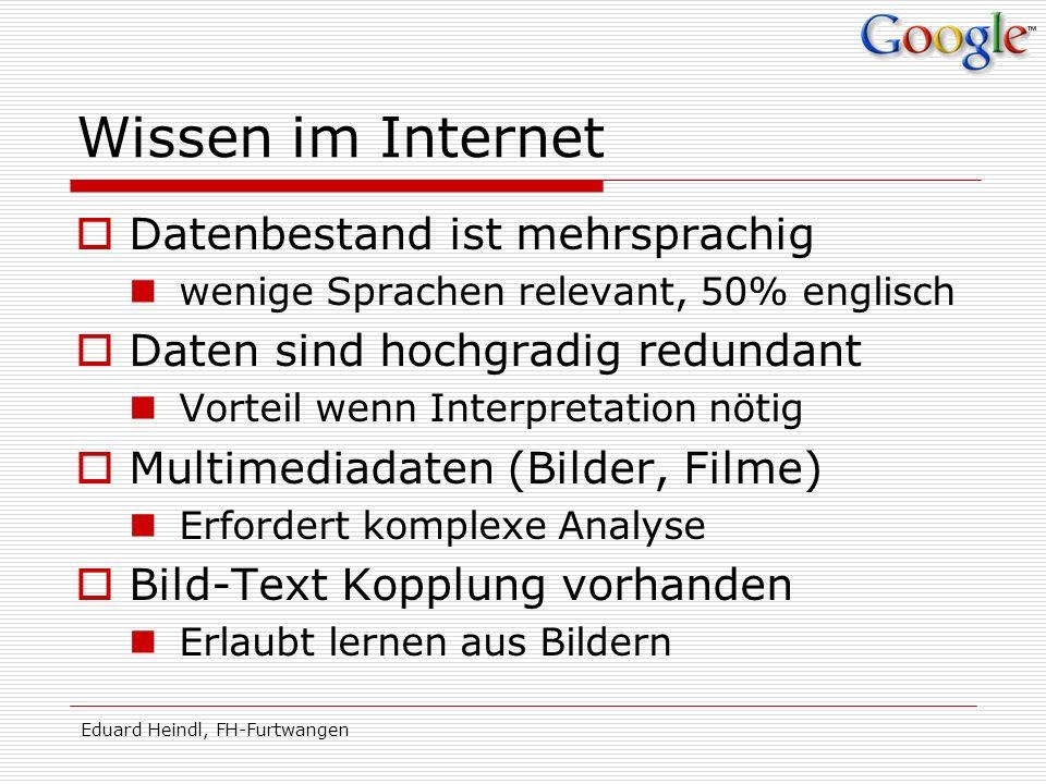 Wissen im Internet Datenbestand ist mehrsprachig