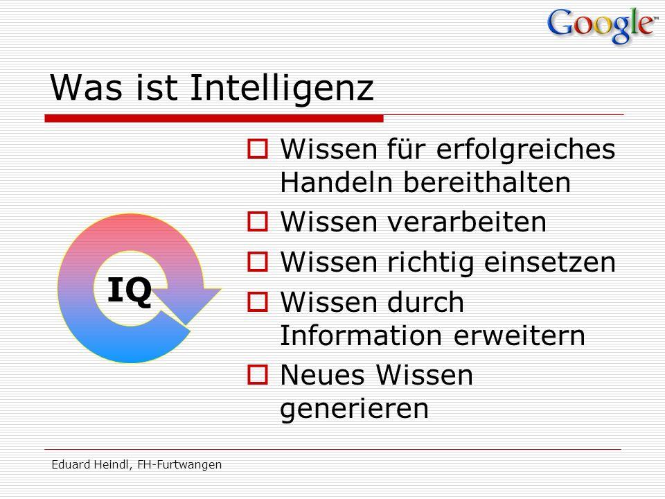 Was ist Intelligenz IQ Wissen für erfolgreiches Handeln bereithalten