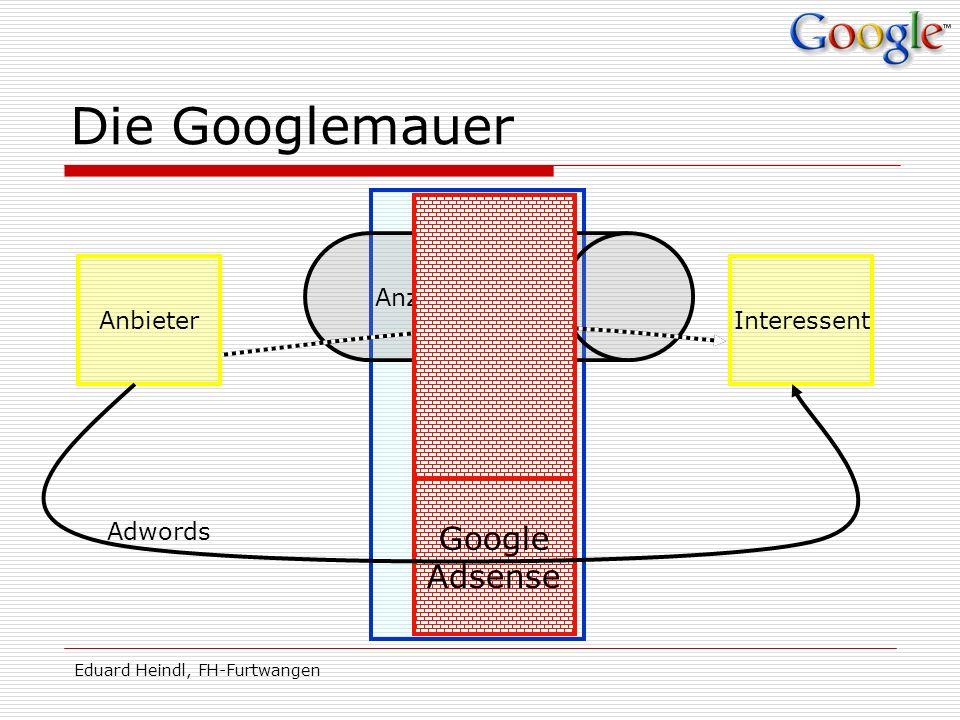 Die Googlemauer Medien Google Adsense Anzeigentunnel Anbieter