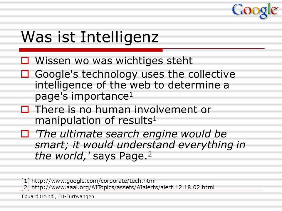 Was ist Intelligenz Wissen wo was wichtiges steht