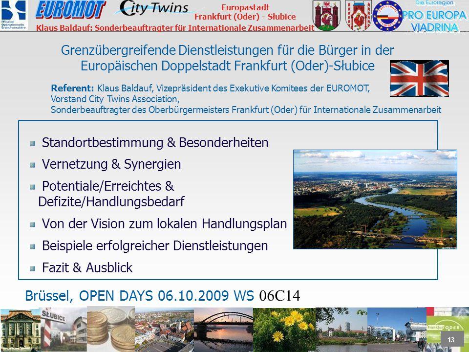 Grenzübergreifende Dienstleistungen für die Bürger in der Europäischen Doppelstadt Frankfurt (Oder)-Słubice