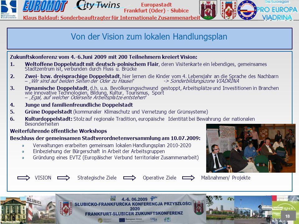 Von der Vision zum lokalen Handlungsplan