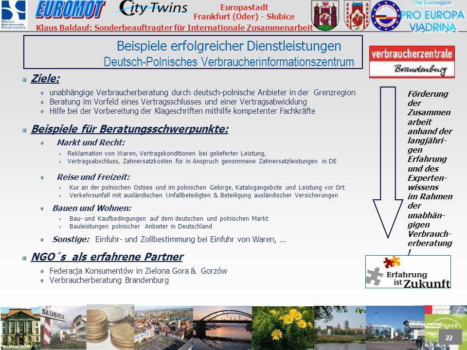 Beispiele erfolgreicher Dienstleistungen Deutsch-Polnisches Verbraucherinformationszentrum