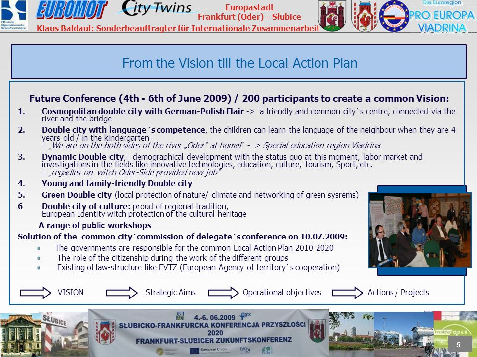 From the Vision till the Local Action Plan