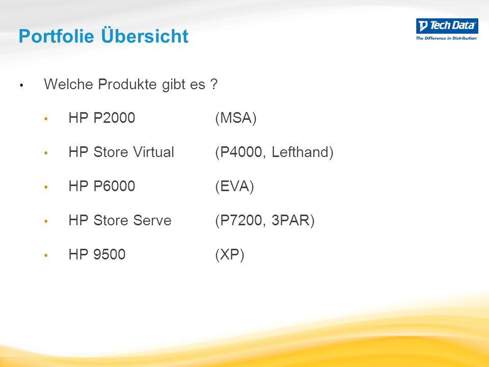 Portfolie Übersicht Welche Produkte gibt es HP P2000 (MSA)