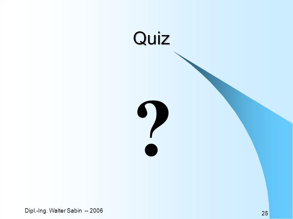 Quiz Dipl.-Ing. Walter Sabin -- 2006