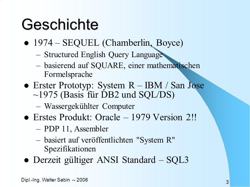 Geschichte 1974 – SEQUEL (Chamberlin, Boyce)