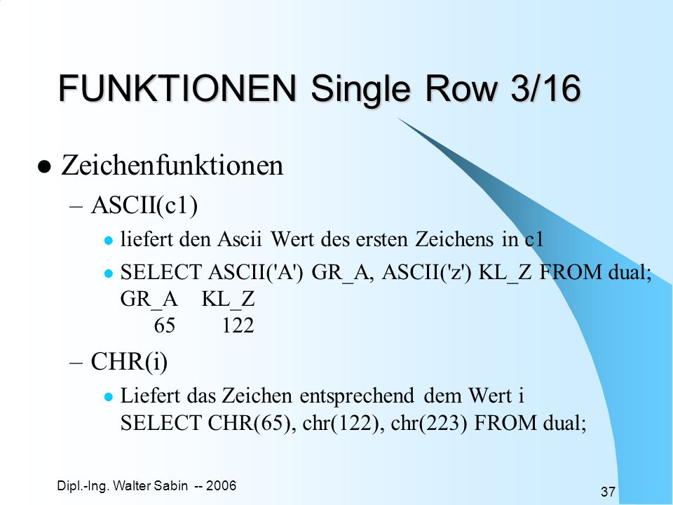 FUNKTIONEN Single Row 3/16