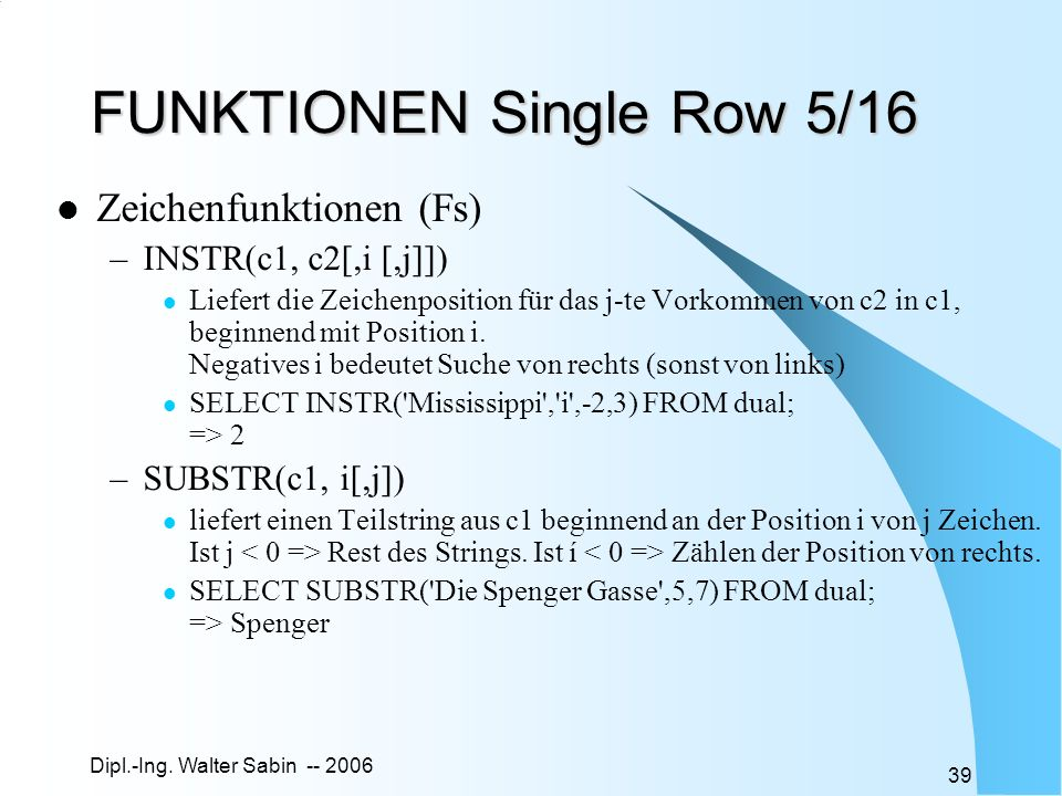 FUNKTIONEN Single Row 5/16
