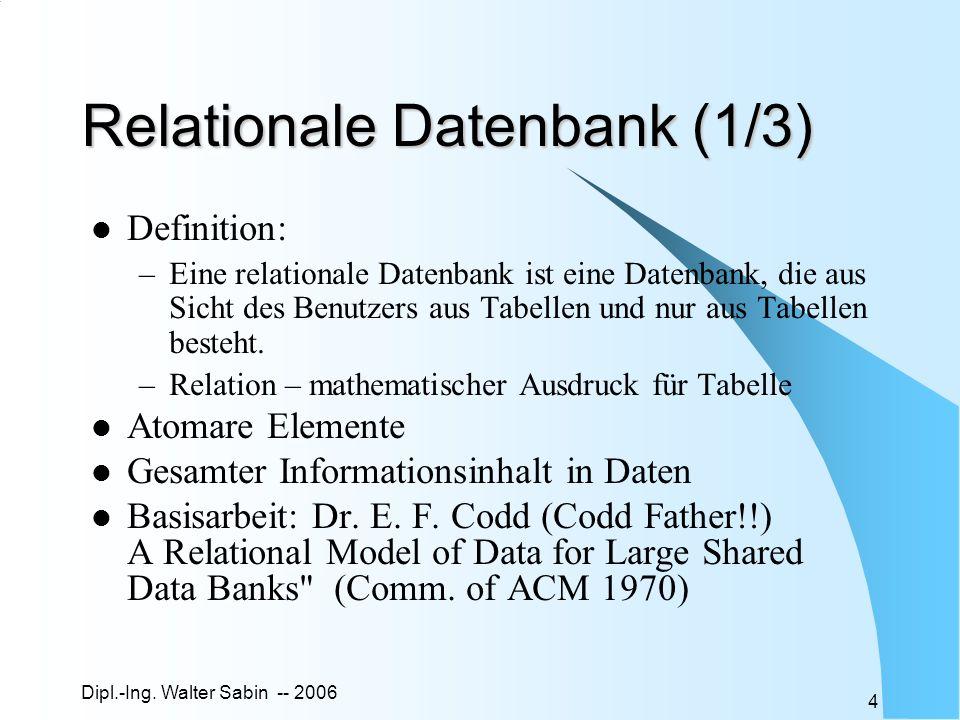 Relationale Datenbank (1/3)