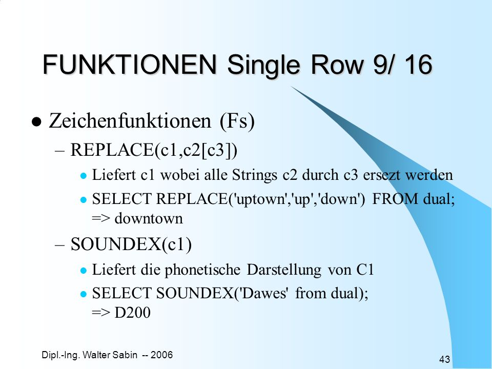 FUNKTIONEN Single Row 9/ 16