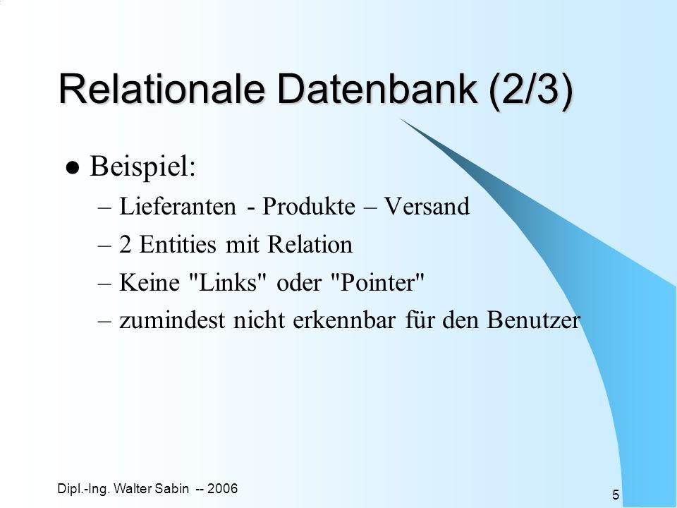 Relationale Datenbank (2/3)
