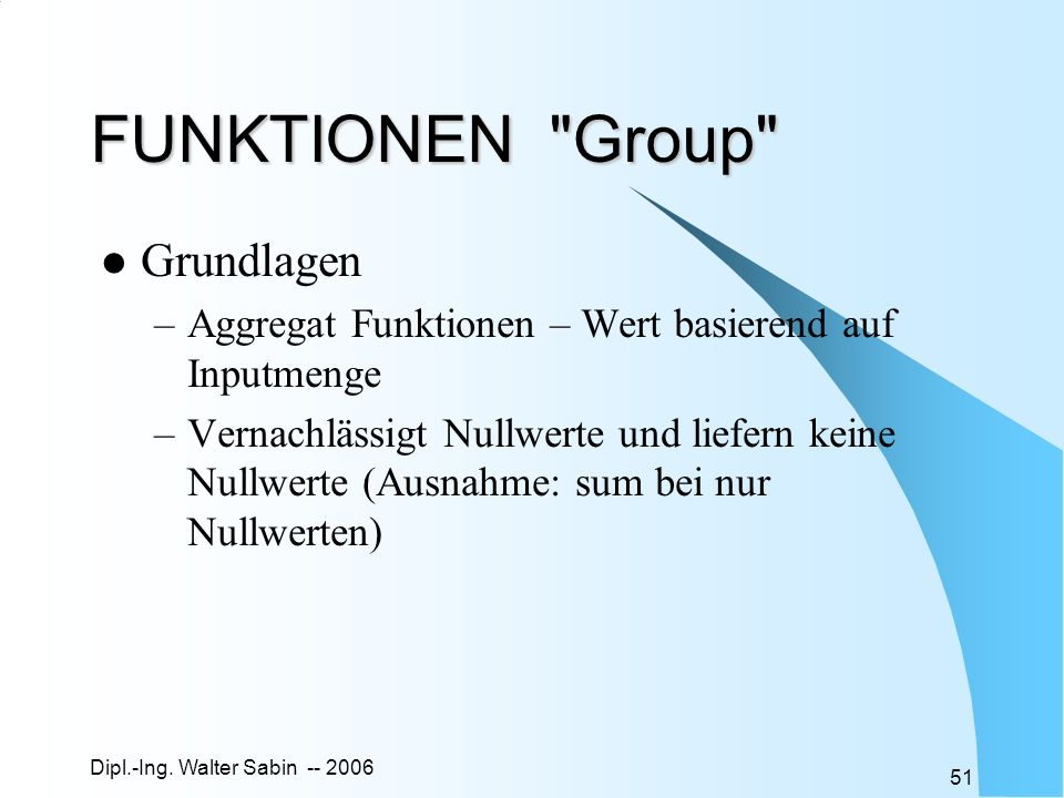 FUNKTIONEN Group Grundlagen
