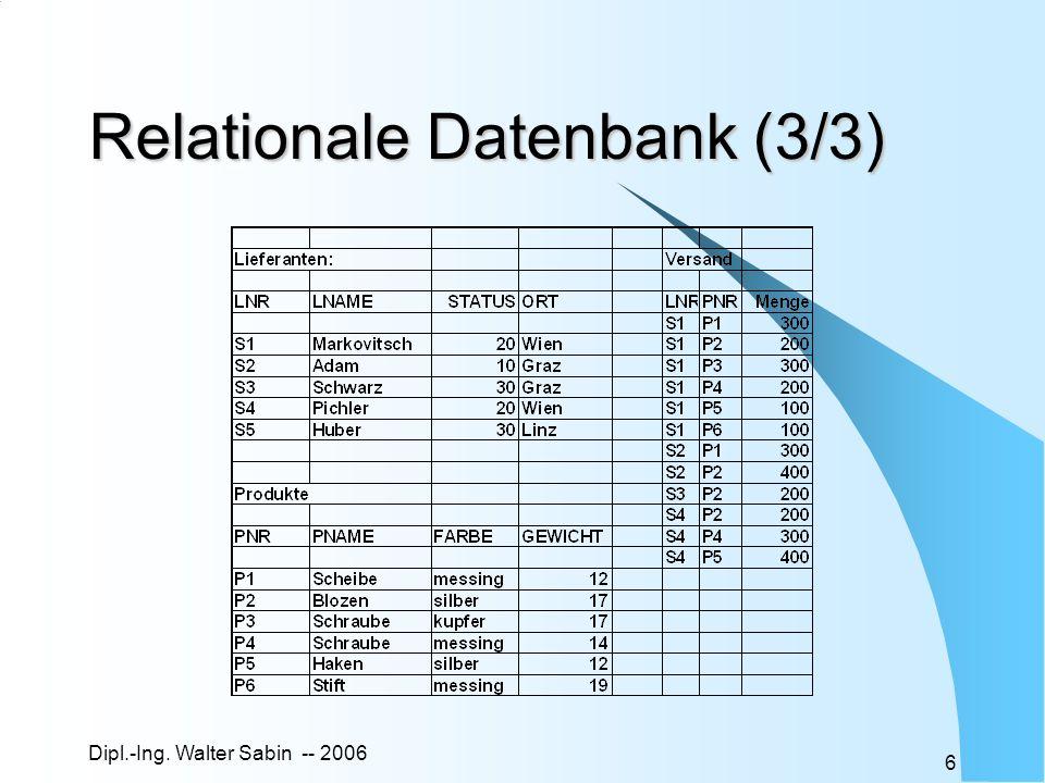 Relationale Datenbank (3/3)