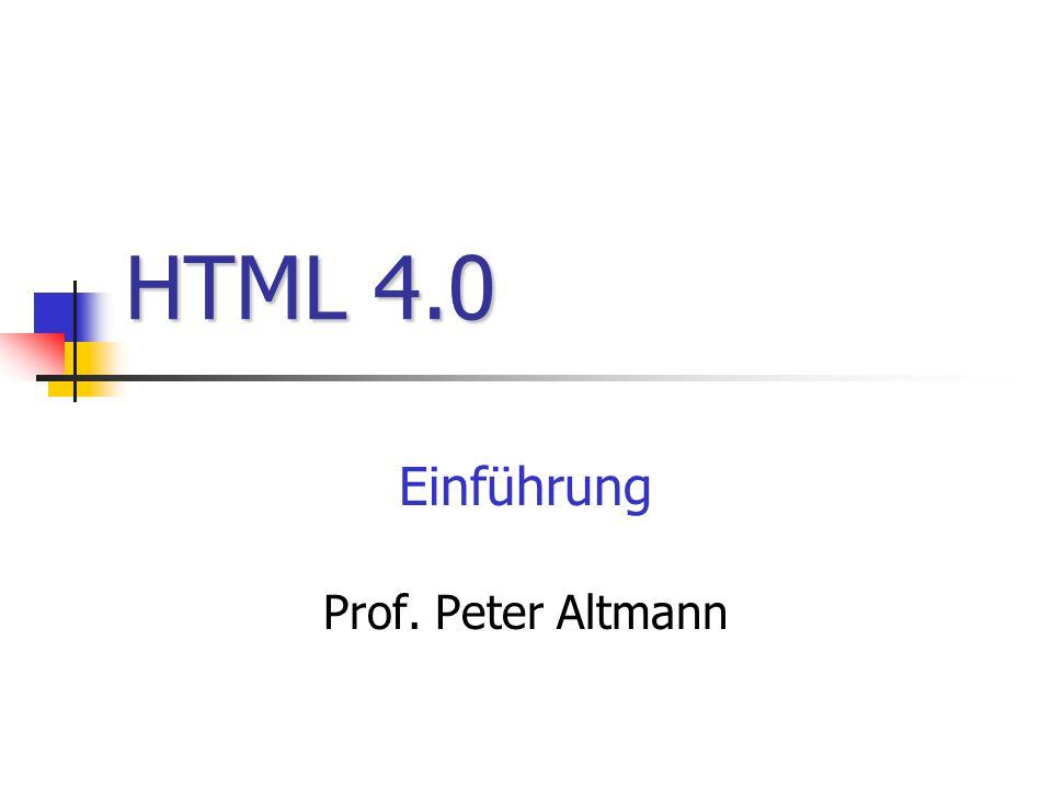Einführung Prof. Peter Altmann