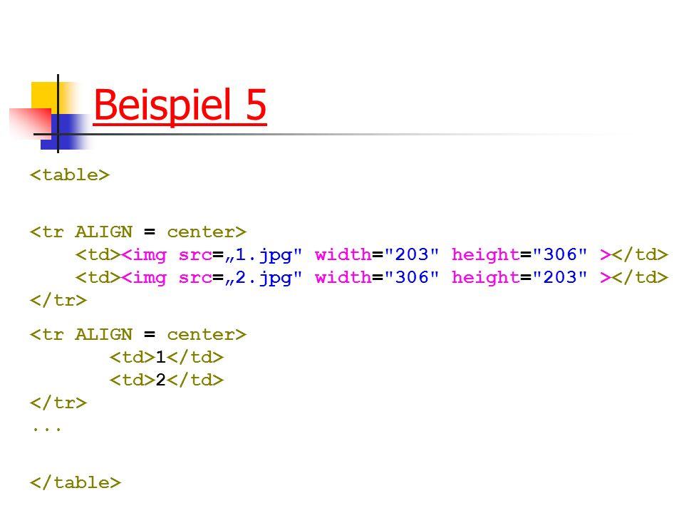 Beispiel 5 <table>