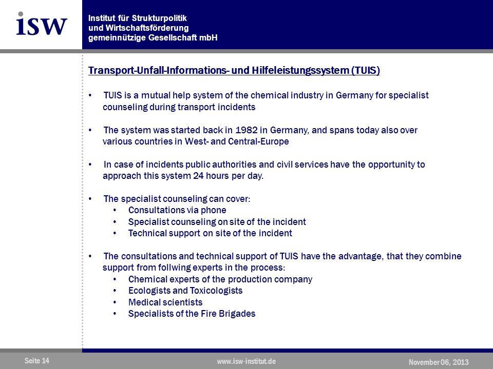 Transport-Unfall-Informations- und Hilfeleistungssystem (TUIS)