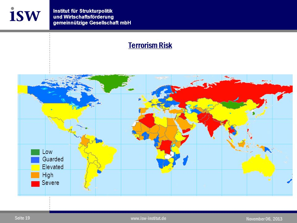 Terrorism Risk Low Guarded Elevated High Severe www.isw-institut.de