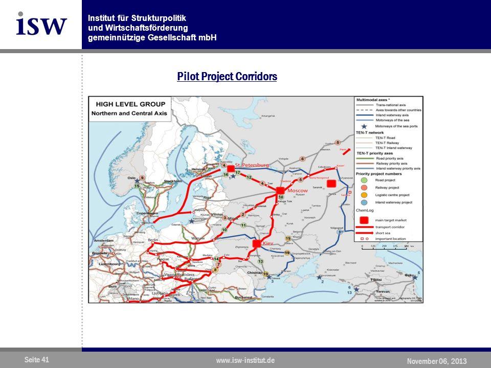 Pilot Project Corridors