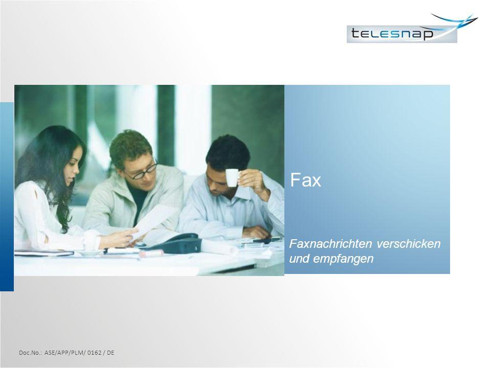Faxnachrichten verschicken und empfangen