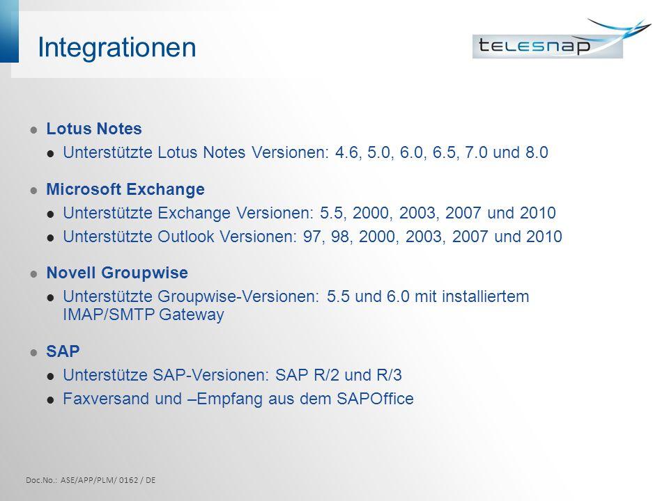 Integrationen Lotus Notes