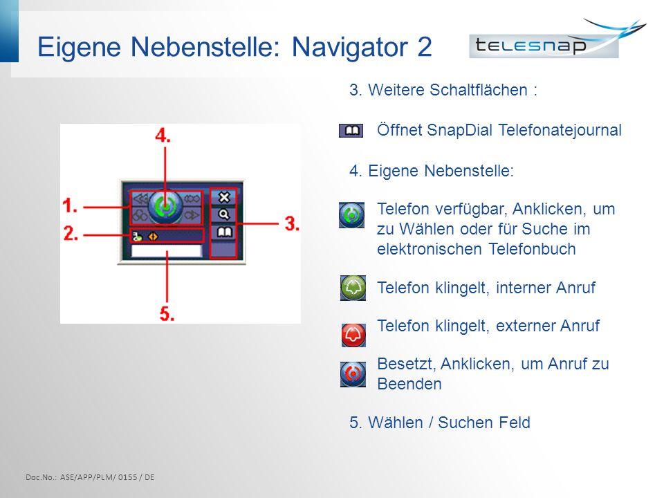 Eigene Nebenstelle: Navigator 2