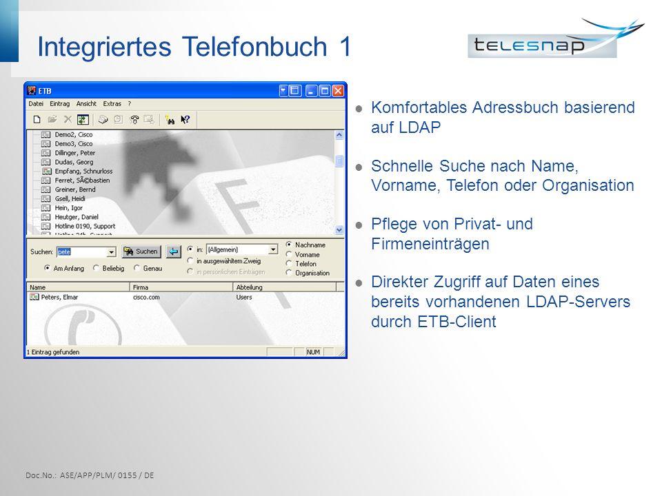 Integriertes Telefonbuch 1