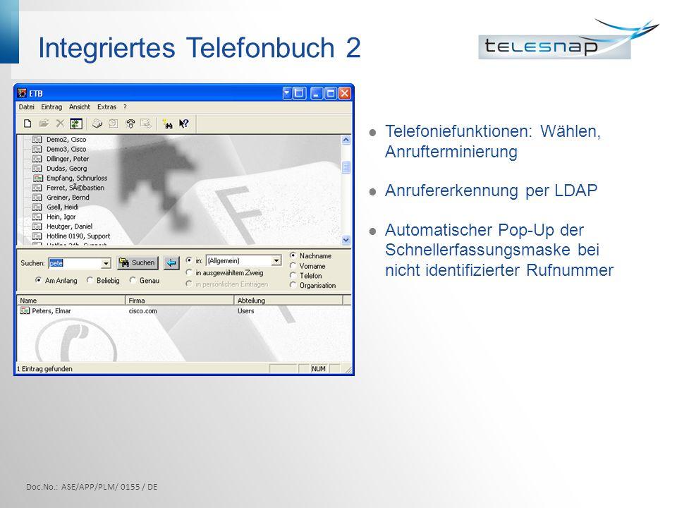 Integriertes Telefonbuch 2