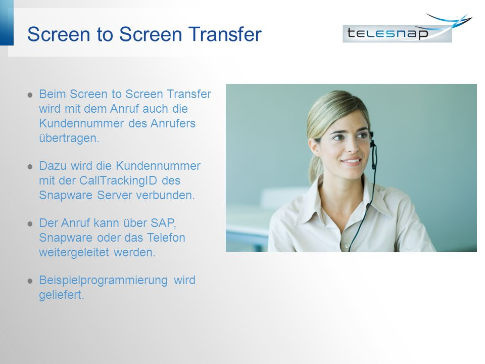 Screen to Screen Transfer
