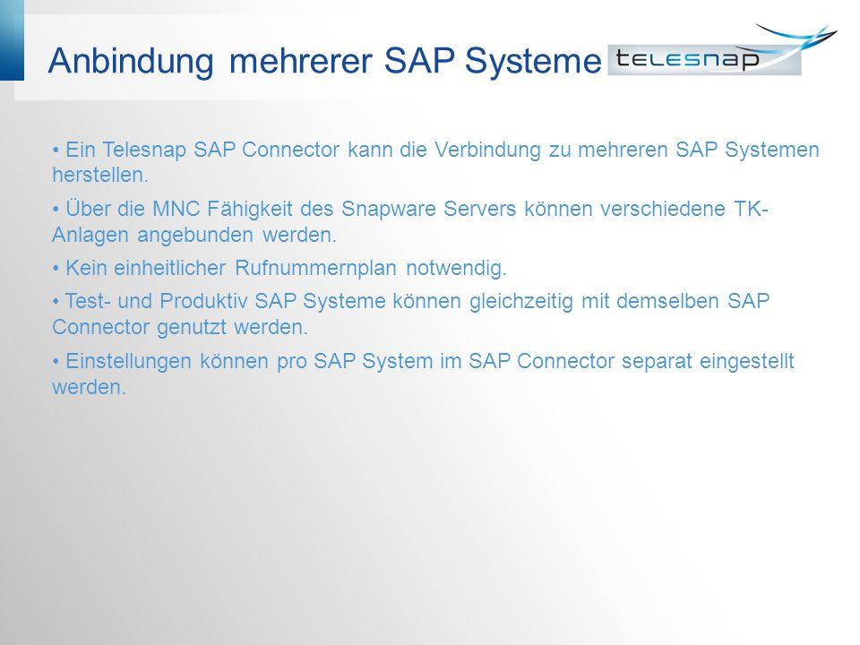 Anbindung mehrerer SAP Systeme