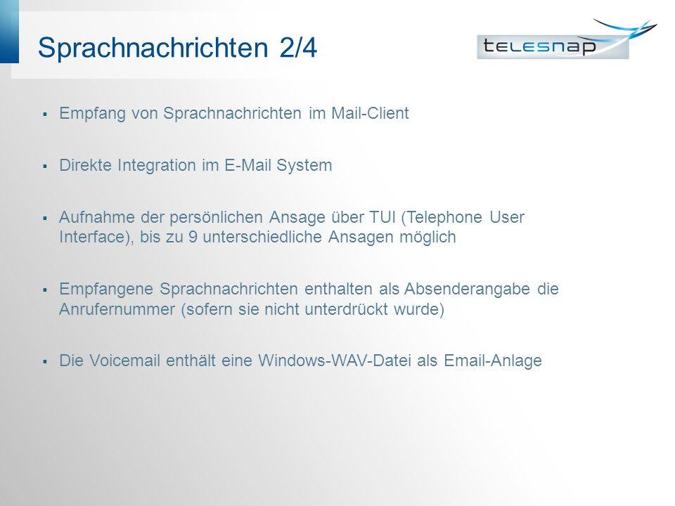 Sprachnachrichten 2/4 Empfang von Sprachnachrichten im Mail-Client