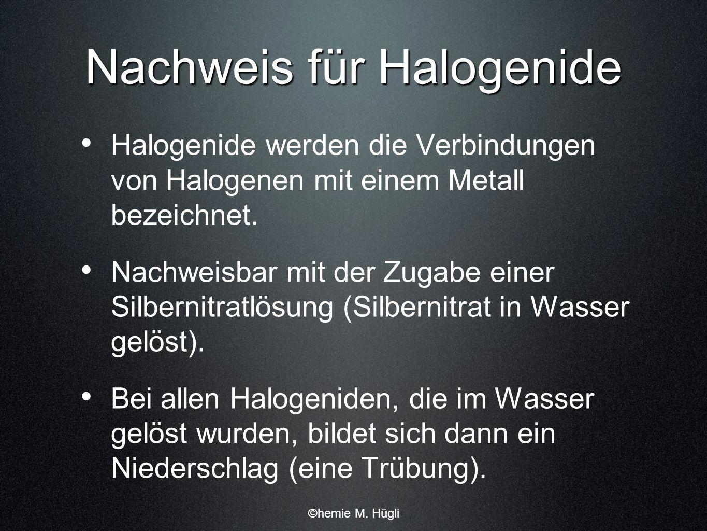 Nachweis für Halogenide