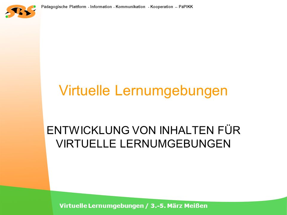 Virtuelle Lernumgebungen