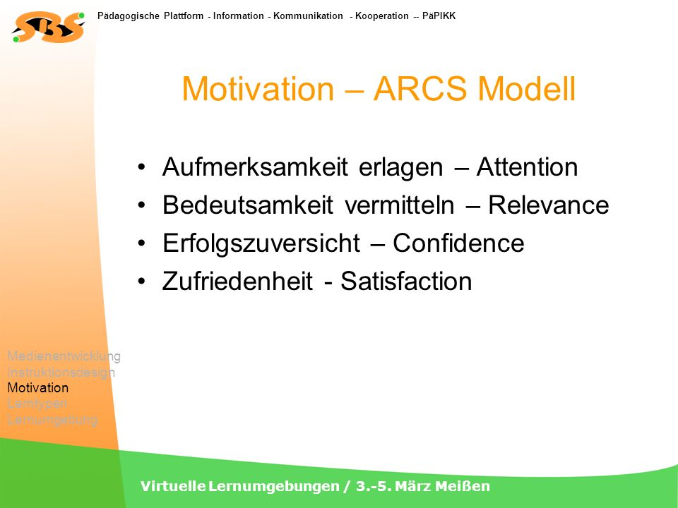 Motivation – ARCS Modell