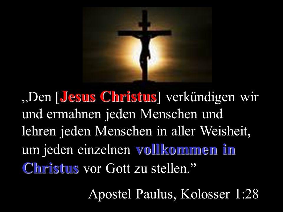 Apostel Paulus, Kolosser 1:28