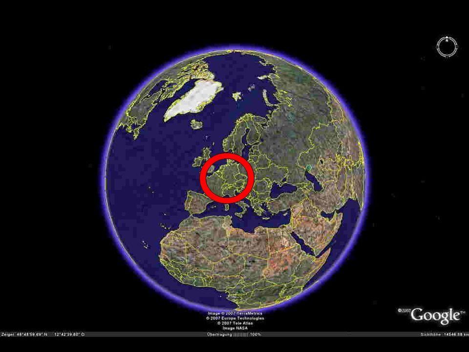 Hier sehen Sie eine Welt-Perspektive, was wichtig ist, denn ich bin eigentlich auf der anderen Seite der Welt aufgewachsen in ...