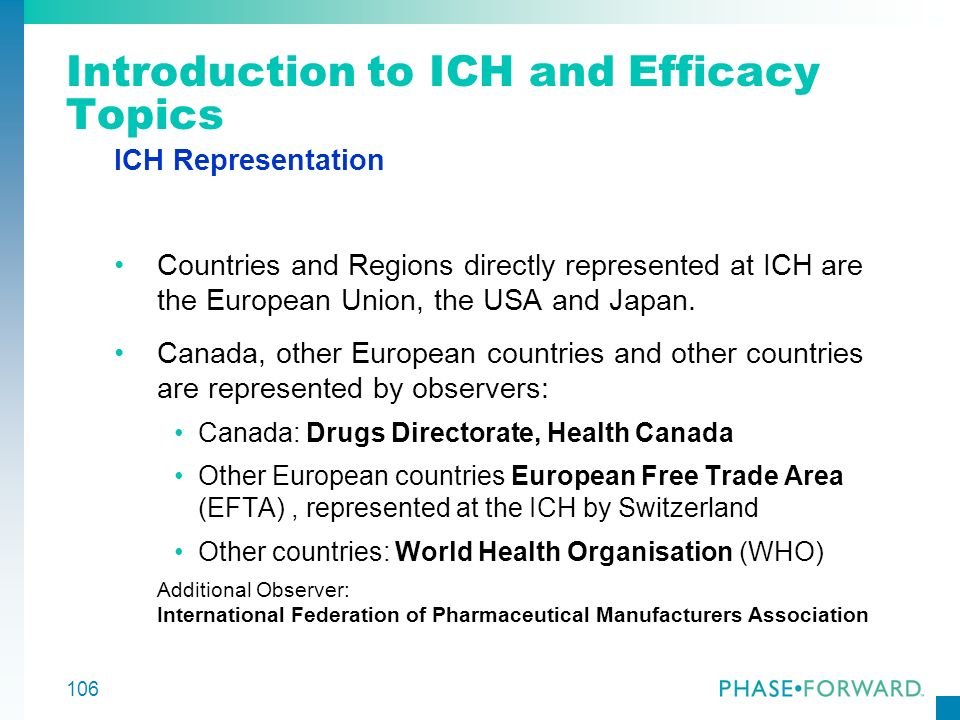 Introduction to ICH and Efficacy Topics