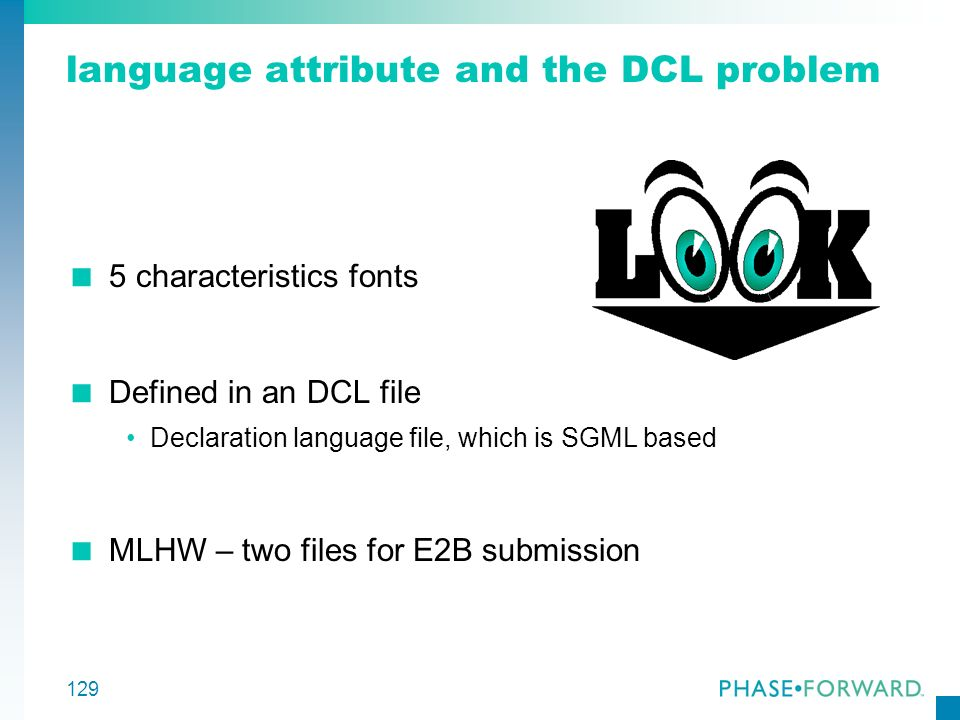 language attribute and the DCL problem