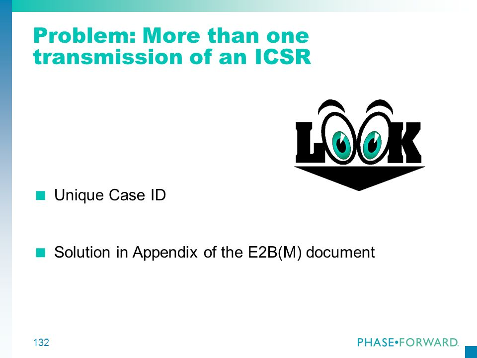 Problem: More than one transmission of an ICSR