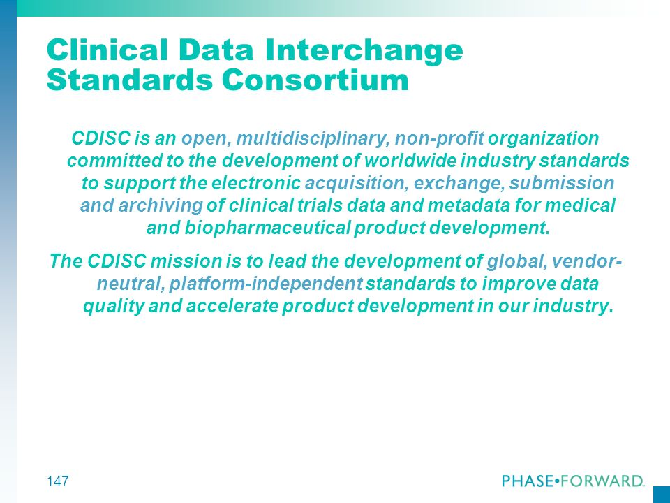 Clinical Data Interchange Standards Consortium