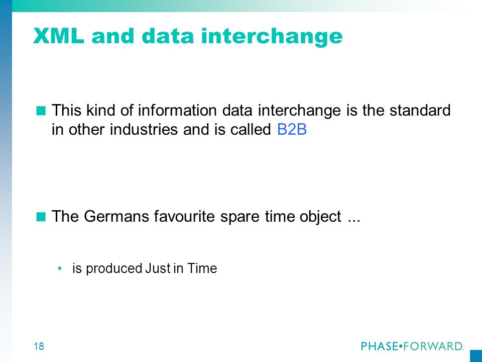 XML and data interchange