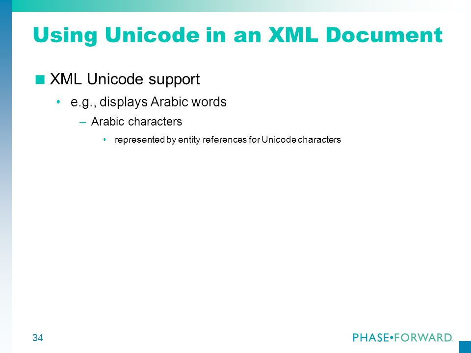 Using Unicode in an XML Document