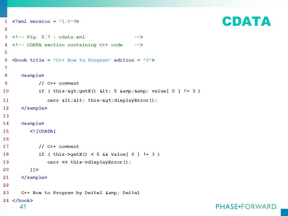 CDATA 1 < xml version = 1.0 > 2
