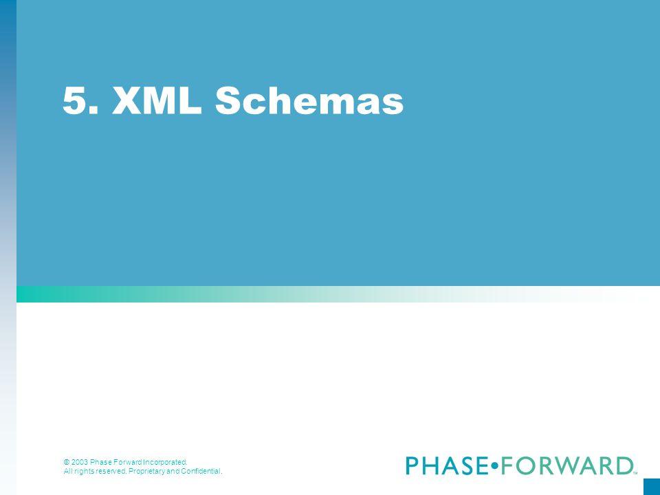 5. XML Schemas