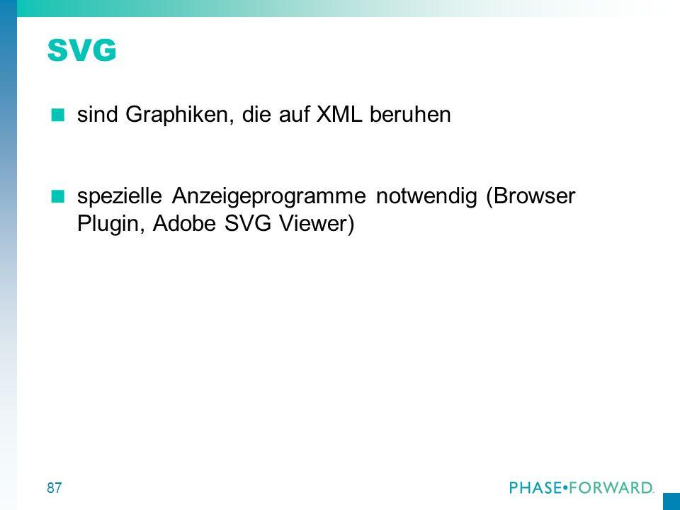 SVG sind Graphiken, die auf XML beruhen