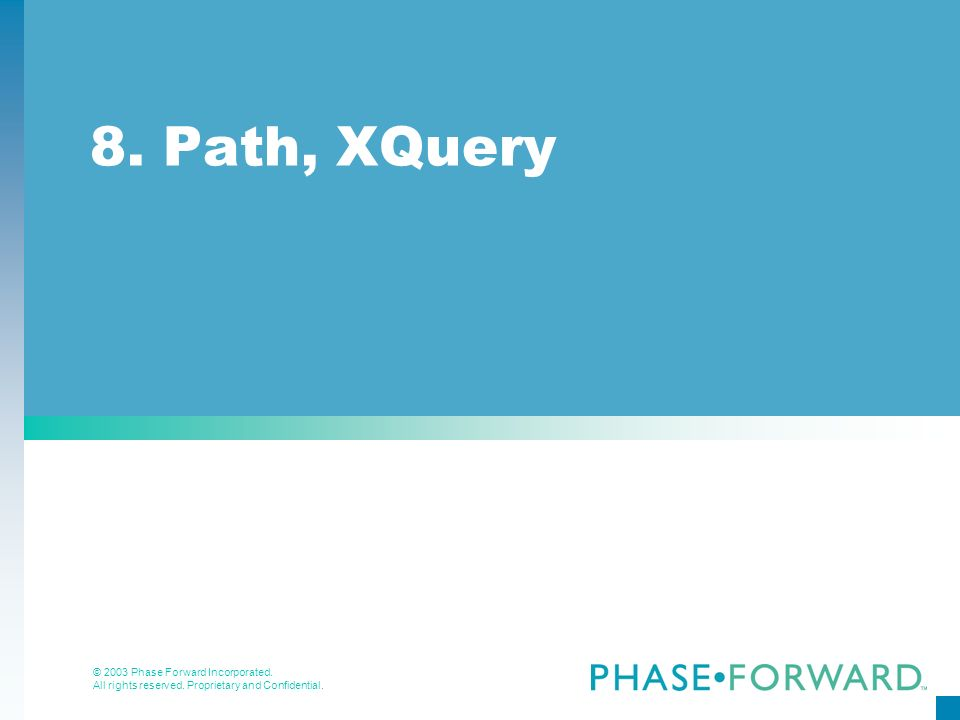 8. Path, XQuery