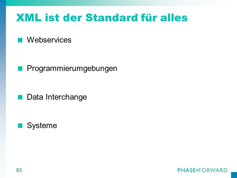 XML ist der Standard für alles