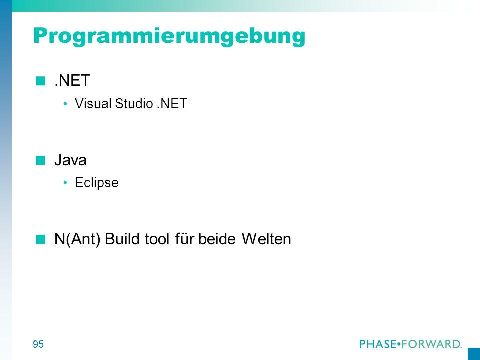 Programmierumgebung .NET Java N(Ant) Build tool für beide Welten