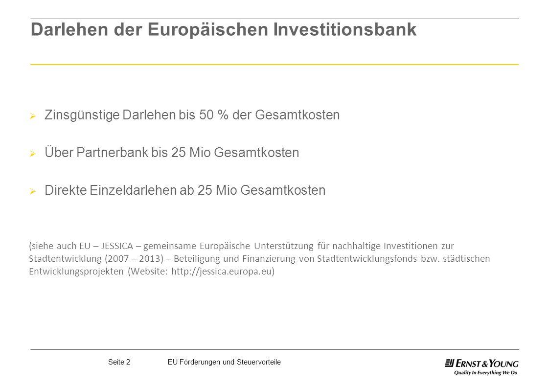 Darlehen der Europäischen Investitionsbank