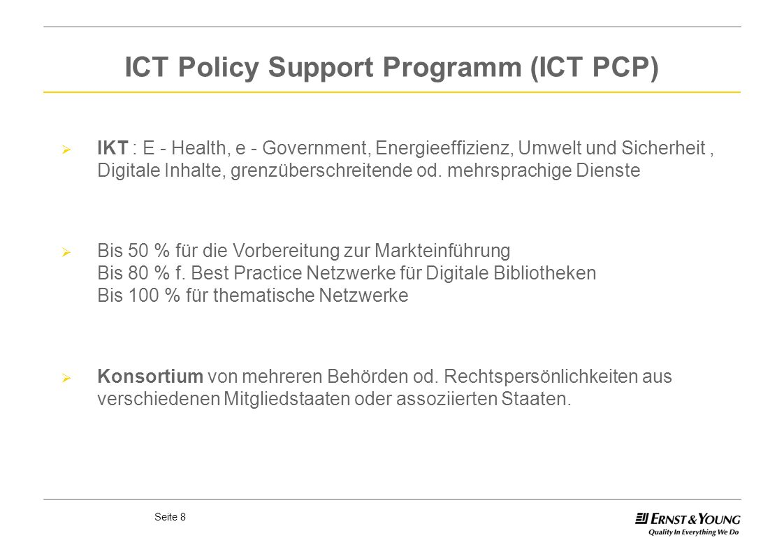 ICT Policy Support Programm (ICT PCP)